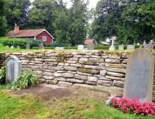 Renovering av kalkstensmur